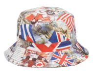 MULTI FLAG REVERSIBLE BUCKET HATS BK2128