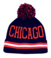 POMPOLM BEANIE HATS/CHICAGO BN1610 NAVY