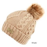 SOLID & MULTI COLOR KNIT BEANIE HAT WITH POM POM BN1978