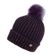 CABLE KNIT BEANIE WITH MULTI COLOR POM POM & SHERPA LINING BN2273
