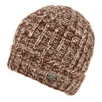 CHUNKY TWO TONE CABLE KNIT BEANIE WITH SHERPA LINING BN2348A