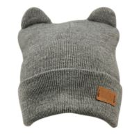 CAT EAR CABLE KNIT BEANIE BN3021