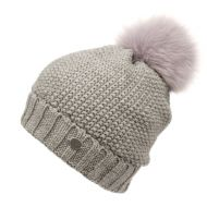 CROCHET BEANIE WITH REAL RACCOON FUR POM POM BN3042