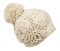 WINTER CABLE KNIT POMPOM BEANIE W/FLEECE LINING BN4074