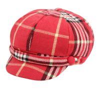 PLAID CABBIE HAT W/SATIN LINING CB011-1 A