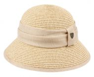 PAPER STRAW BRAID BUCKET HATS WITH FABRIC BAND CL2797