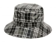 FAUX LEATHER PLAID ALL WEATHER BUCKET HATS CL4057