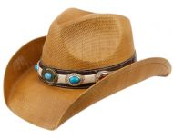 FASHION COWBOY HATS W/TRIM BAND & STUDS COW2724