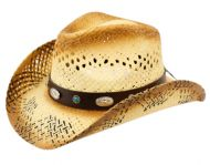 FASHION COWBOY HATS W/TRIM BAND & STUDS COW2726