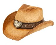 FASHION COWBOY HATS W/TRIM BAND & STUDS COW4038