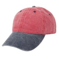 PIGMENT DYED TWO TONE WASHED COTTON CAP CP2390