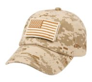 WASHED COTTON BASEBALL CAP WITH USA FLAG PATCH CP2765