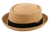 STRAW PORK PIE HATS F1857