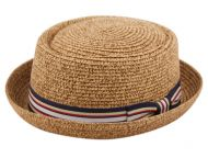 STRAW PORK PIE HATS F1858