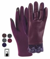 LADIES FAUX LEATHER TOUCH SCREEN GLOVE GL2169
