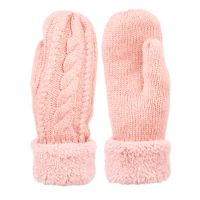 WINTER KNIT MITTENS WITH SHERPA LINING GL3014
