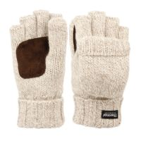HALF FINGER WOOL KNIT GLOVES WITH COVER & PALM PATCH GL3058