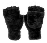 LADIES SOFT FUR WINTER EXPOSED FINGER GLOVE GL4099
