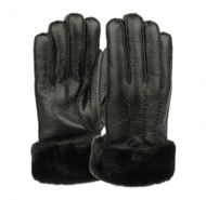 MEN'S FAUX LEATHER GLOVE W/FUR CUFF GL4104
