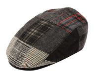 PATCH WORK WOOL FLAT IVY CAP W/QUILTED LINING IV1579