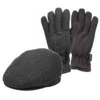 IVY CAP W/GLOVES SETS IV1935+GL4101GRY