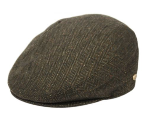 HERRINGBONE WOOL IVY CAPS W/SATIN QUILTED LINING IV1935
