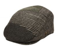 TWEED PATCH WORK WOOL IVY CAPS W/SATIN QUILTED LINING IV3054