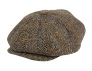 BERTELL GENUINE HARRIS TWEED WOOL NEWSBOY CAP M101