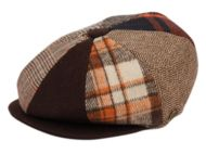 MULTI PATCH WORK NEWSBOY CAP NSB1592