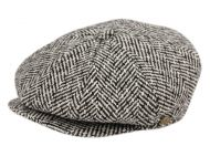 HERRINGBONE WOOL BLEND NEWSBOY CAP NSB1594