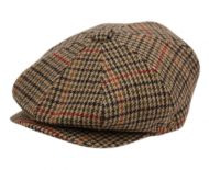 HOUNDSTOOTH PLAIN WOOL BLEND NEWSBOY CAP NSB1597