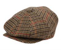 HOUNDSTOOTH PLAIN WOOL BLEND NEWSBOY CAP NSB1597
