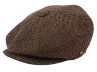 BRUSHED HERRINGBONE WOOL BLEND NEWSBOY CAP NSB2318