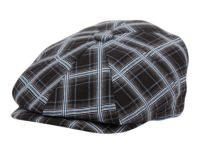 100% COTTON CHECK NEWSBOY CAPS NSB4025