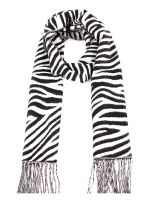 CASHMERE FEELING LEOPARD SCARF S023