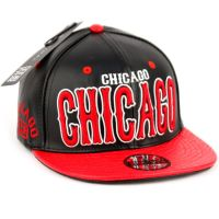 FAUX LEATHER CAPS WITH CHICAGO SB2085