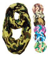 COTTON CAMOUFLAGE INFINITY SCARVES SC1898