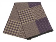 MEN'S CASHMERE FEEL MULTI PATTERN SCARF SC4086