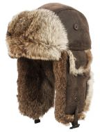 SUPER SOFT GENUINE RABBIT FUR BUMBER TRAPPER WINTER HATS TP2326